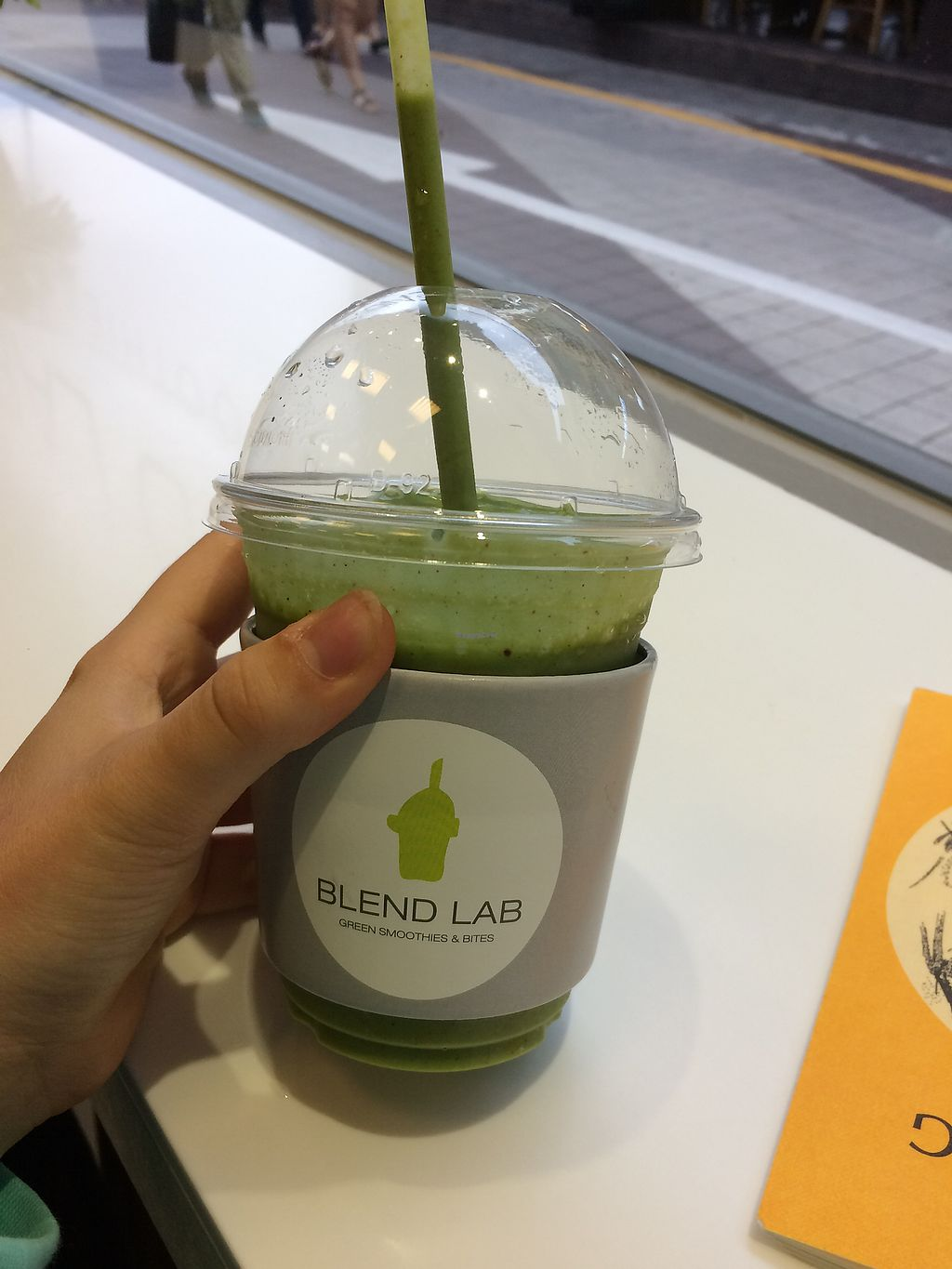 """Photo of Blend Lab - 블렌드랩  by <a href=""""/members/profile/ellieallan"""">ellieallan</a> <br/>""""Basil smoothie"""" <br/> July 15, 2017  - <a href='/contact/abuse/image/89559/280570'>Report</a>"""