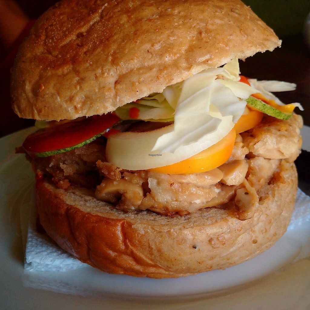 """Photo of Pauls's Magic - Vegan Veggie Snacks  by <a href=""""/members/profile/ALLC"""">ALLC</a> <br/>mushroom burger <br/> December 5, 2017  - <a href='/contact/abuse/image/89570/332454'>Report</a>"""