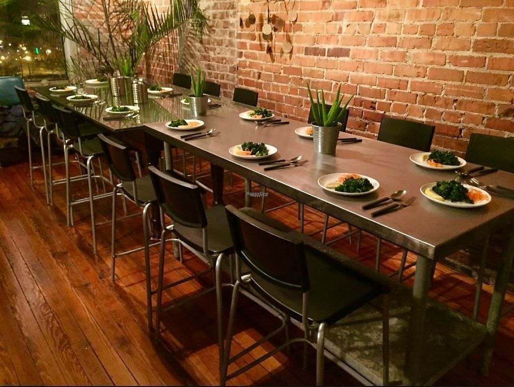 """Photo of Global Breath Studio  by <a href=""""/members/profile/turtleveg"""">turtleveg</a> <br/>monthly vegan supper club <br/> April 4, 2017  - <a href='/contact/abuse/image/89578/244702'>Report</a>"""