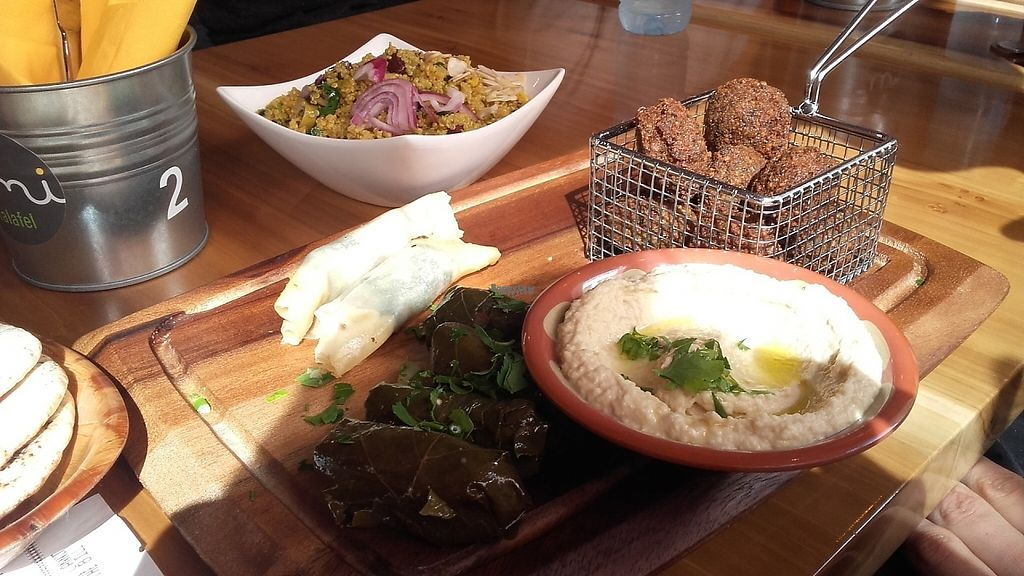 """Photo of Umi Falafel  by <a href=""""/members/profile/HappyEmma"""">HappyEmma</a> <br/>Hummus bowl, such a generous portion with yummy falafels <br/> April 16, 2017  - <a href='/contact/abuse/image/89609/248961'>Report</a>"""