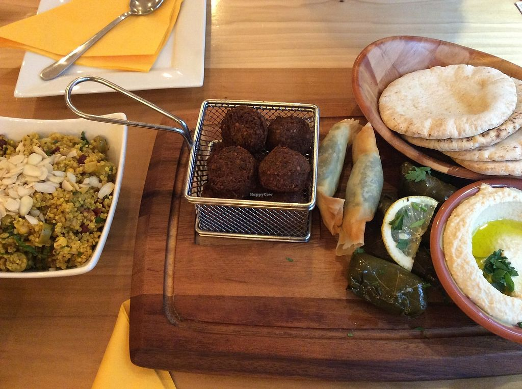"""Photo of Umi Falafel  by <a href=""""/members/profile/AnnaVladi"""">AnnaVladi</a> <br/>Plate for 2 persons <br/> July 2, 2017  - <a href='/contact/abuse/image/89609/275888'>Report</a>"""