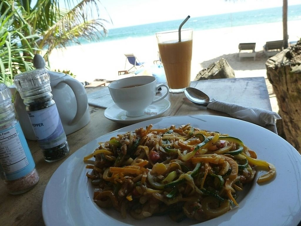 """Photo of Thambili Cafe  by <a href=""""/members/profile/barbicanben"""">barbicanben</a> <br/>Courgetti with cashew sauce <br/> April 3, 2017  - <a href='/contact/abuse/image/89641/244366'>Report</a>"""