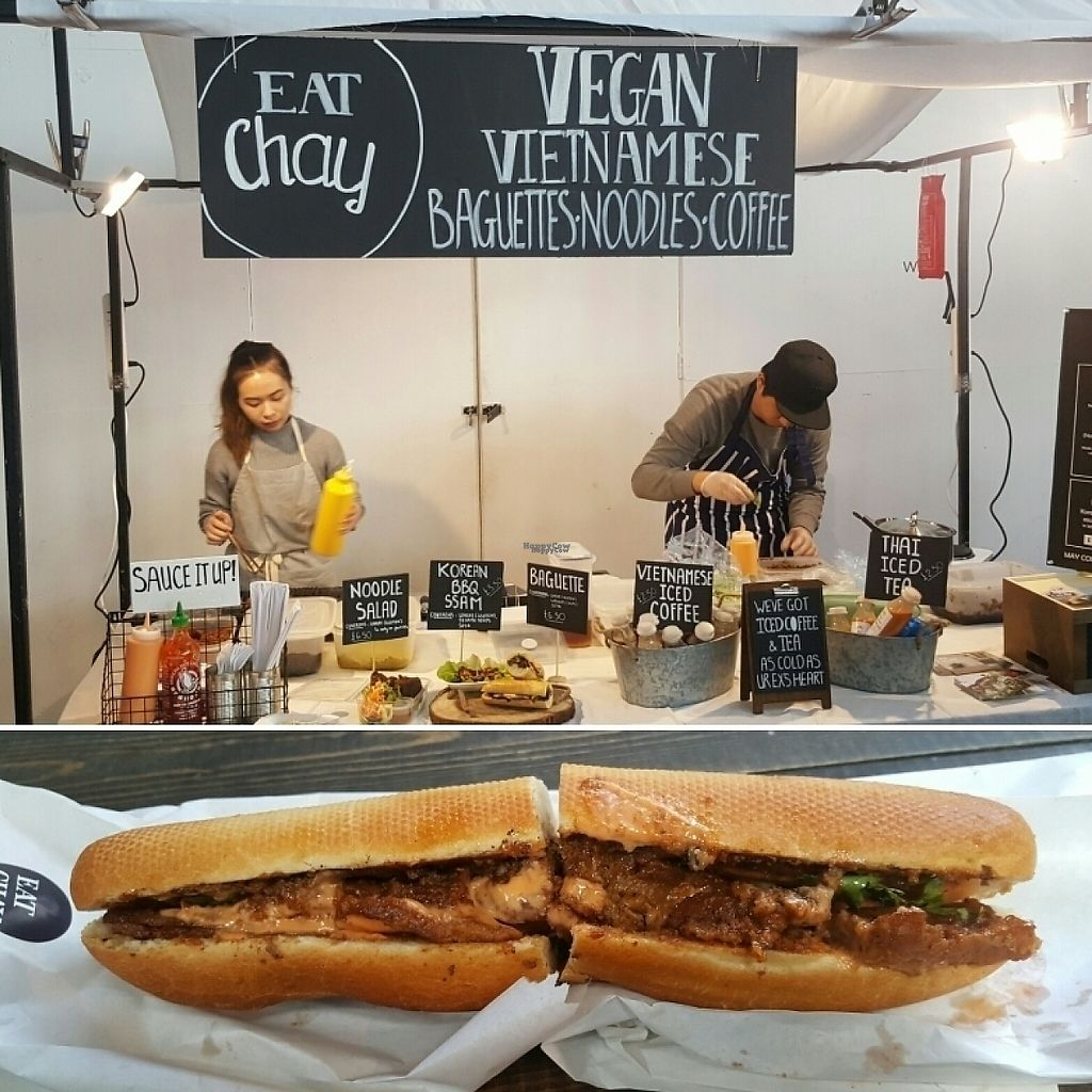 """Photo of Eat Chay - Food Stall  by <a href=""""/members/profile/Vegancapitalist"""">Vegancapitalist</a> <br/>Eat Chay....yum!  <br/> April 1, 2017  - <a href='/contact/abuse/image/89645/243466'>Report</a>"""