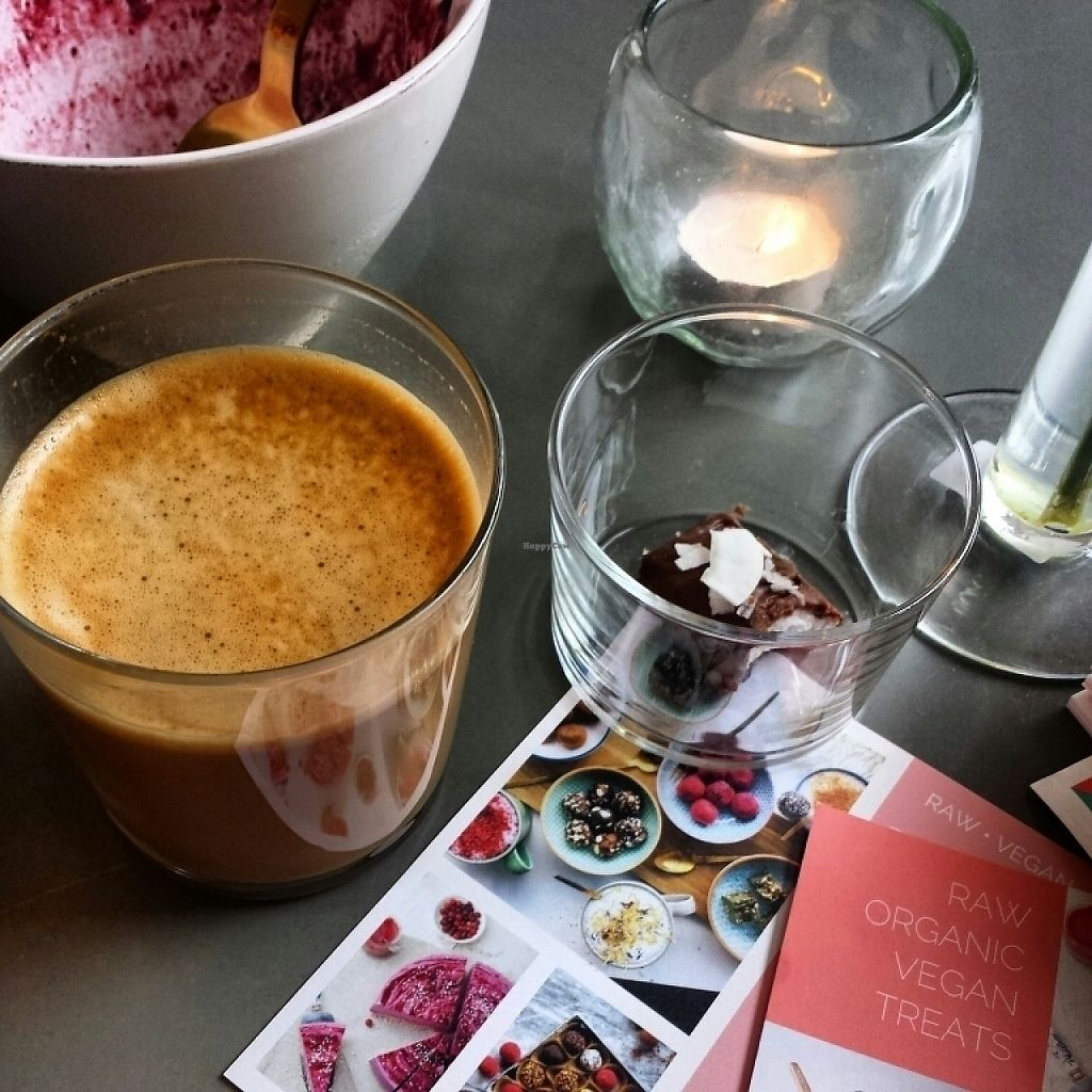 """Photo of Oslo Raw  by <a href=""""/members/profile/Tomma"""">Tomma</a> <br/>Coffe and raw bounty bar (acai bowl didn't last for a picture!) <br/> May 24, 2017  - <a href='/contact/abuse/image/89657/262003'>Report</a>"""