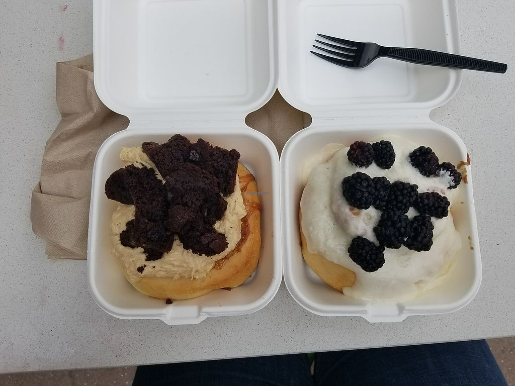 """Photo of Cinnaholic  by <a href=""""/members/profile/pinklimonsour"""">pinklimonsour</a> <br/>peanut butter with brownies, banana with blackberries.  <br/> August 19, 2017  - <a href='/contact/abuse/image/89663/294453'>Report</a>"""