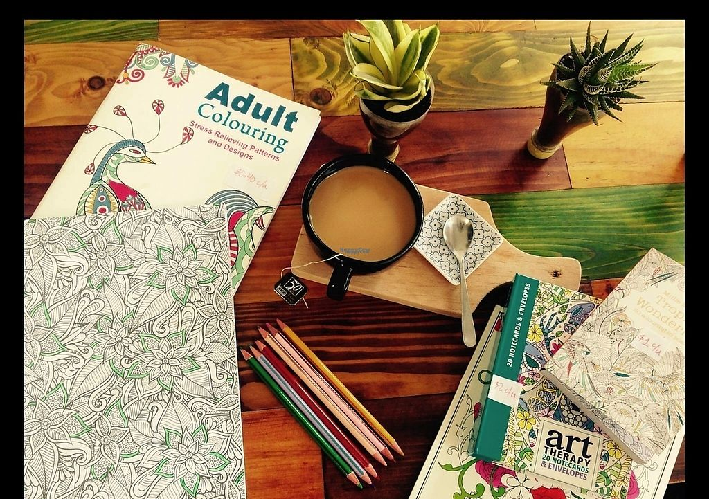"""Photo of IncaZen Tea House  by <a href=""""/members/profile/MoniqueSenseii"""">MoniqueSenseii</a> <br/>Relax and enjoy the moment with tea (or coffee) & coloring at IncaZen Tea House in Otavalo, Ecuador <br/> April 3, 2017  - <a href='/contact/abuse/image/89670/244453'>Report</a>"""