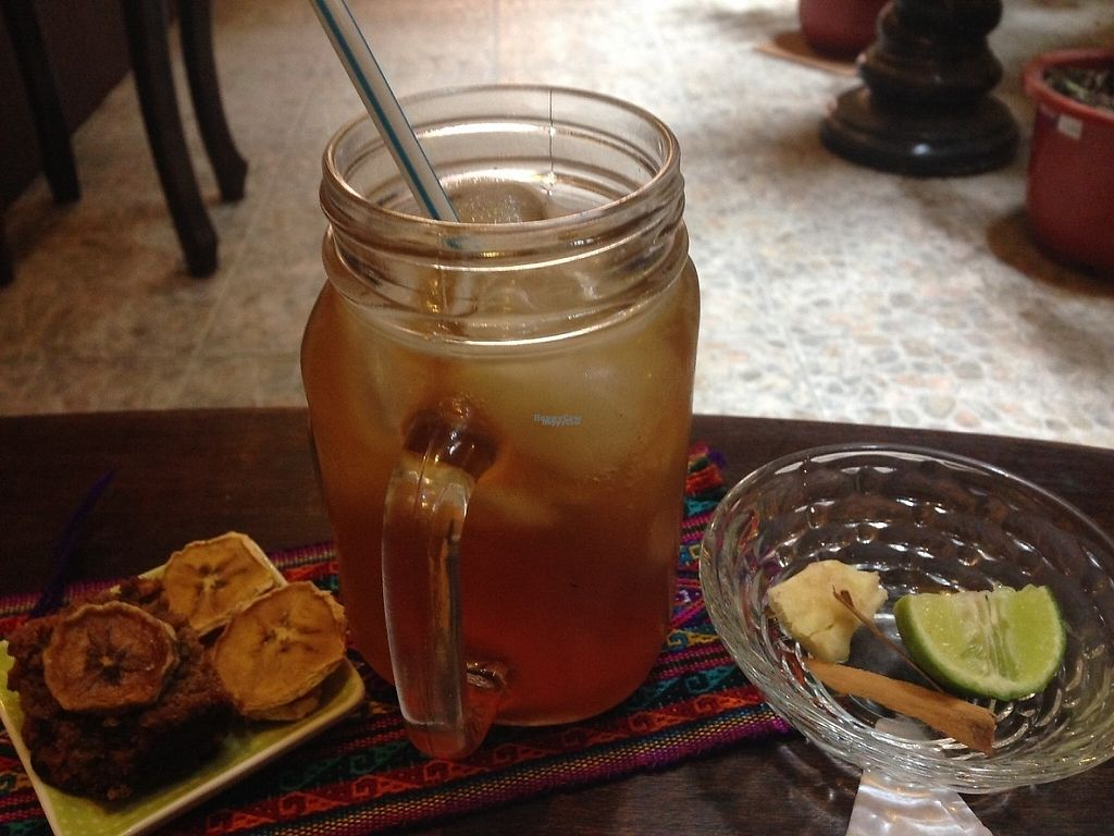 """Photo of IncaZen Tea House  by <a href=""""/members/profile/EmilyNoelle"""">EmilyNoelle</a> <br/>Lemongrass kombucha  <br/> April 28, 2017  - <a href='/contact/abuse/image/89670/253466'>Report</a>"""