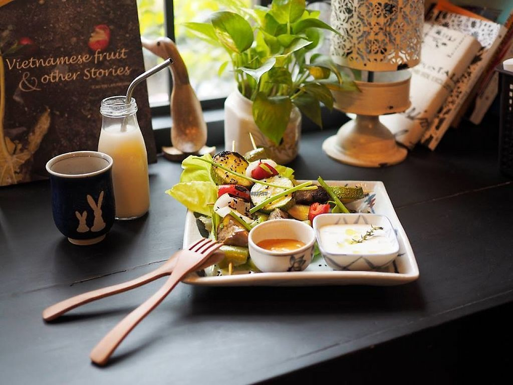 """Photo of The Organik House  by <a href=""""/members/profile/AaronNguyen"""">AaronNguyen</a> <br/>- Vegetarian food  - Menu changing daily - Healthy smoothies - Coffee (Italian and traditional Vietnamese) - Relax Tea set - Nutritious bean milks <br/> April 4, 2017  - <a href='/contact/abuse/image/89675/244632'>Report</a>"""