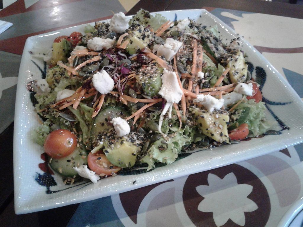 """Photo of The Organik House  by <a href=""""/members/profile/RunEatWorld"""">RunEatWorld</a> <br/>Avocado salad with vegan garlic cheese <br/> June 28, 2017  - <a href='/contact/abuse/image/89675/274254'>Report</a>"""