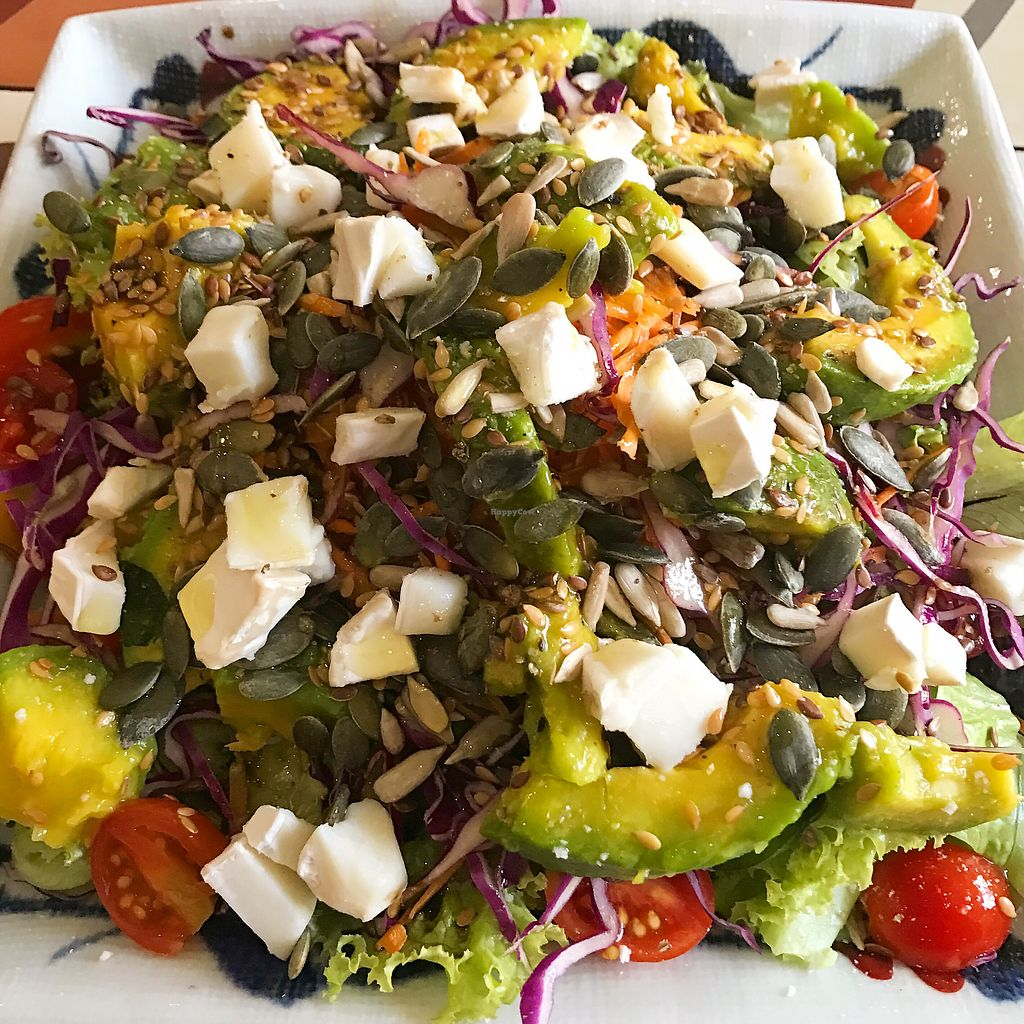"""Photo of The Organik House  by <a href=""""/members/profile/CamilleV"""">CamilleV</a> <br/>Greek salad with super foods <br/> June 29, 2017  - <a href='/contact/abuse/image/89675/274813'>Report</a>"""