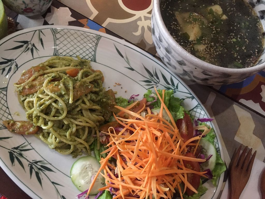 """Photo of The Organik House  by <a href=""""/members/profile/SusanRoberts"""">SusanRoberts</a> <br/>Pesto Pasta/salad/soup <br/> January 7, 2018  - <a href='/contact/abuse/image/89675/343930'>Report</a>"""