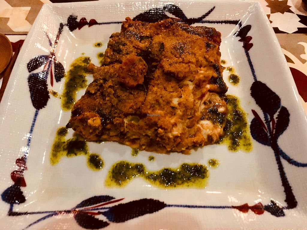 """Photo of The Organik House  by <a href=""""/members/profile/rtiago"""">rtiago</a> <br/>Vegan lasagna <br/> January 23, 2018  - <a href='/contact/abuse/image/89675/350099'>Report</a>"""