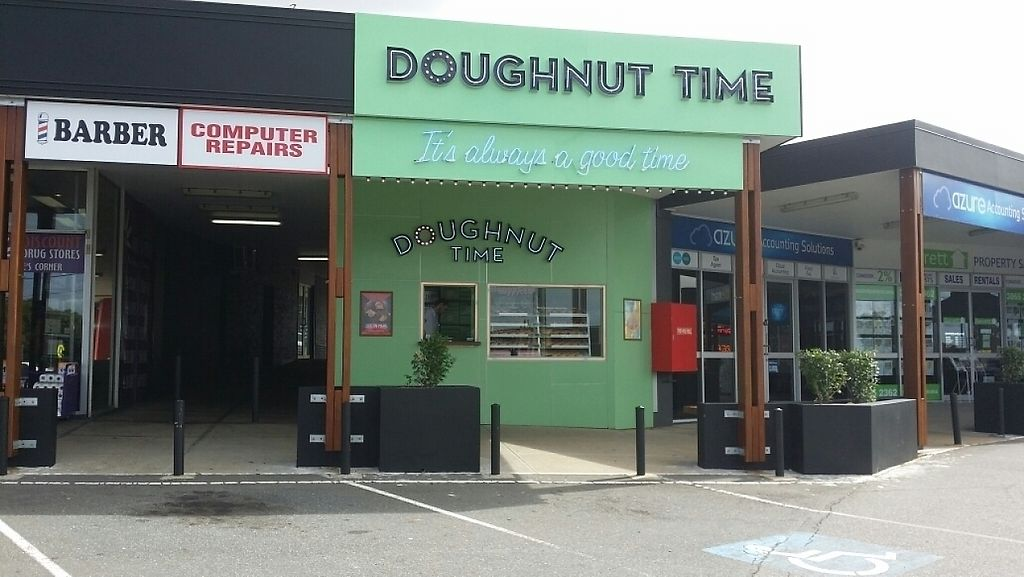 """Photo of CLOSED: Doughnut Time - Boondall  by <a href=""""/members/profile/Mike%20Munsie"""">Mike Munsie</a> <br/>street front <br/> April 22, 2017  - <a href='/contact/abuse/image/89683/250805'>Report</a>"""