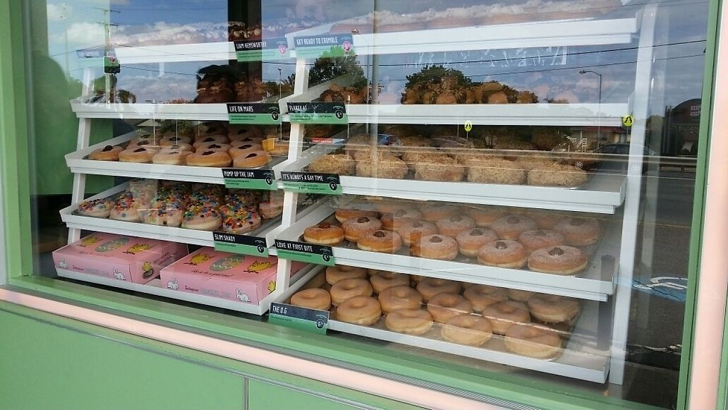 """Photo of CLOSED: Doughnut Time - Boondall  by <a href=""""/members/profile/Mike%20Munsie"""">Mike Munsie</a> <br/>display case <br/> April 22, 2017  - <a href='/contact/abuse/image/89683/250807'>Report</a>"""