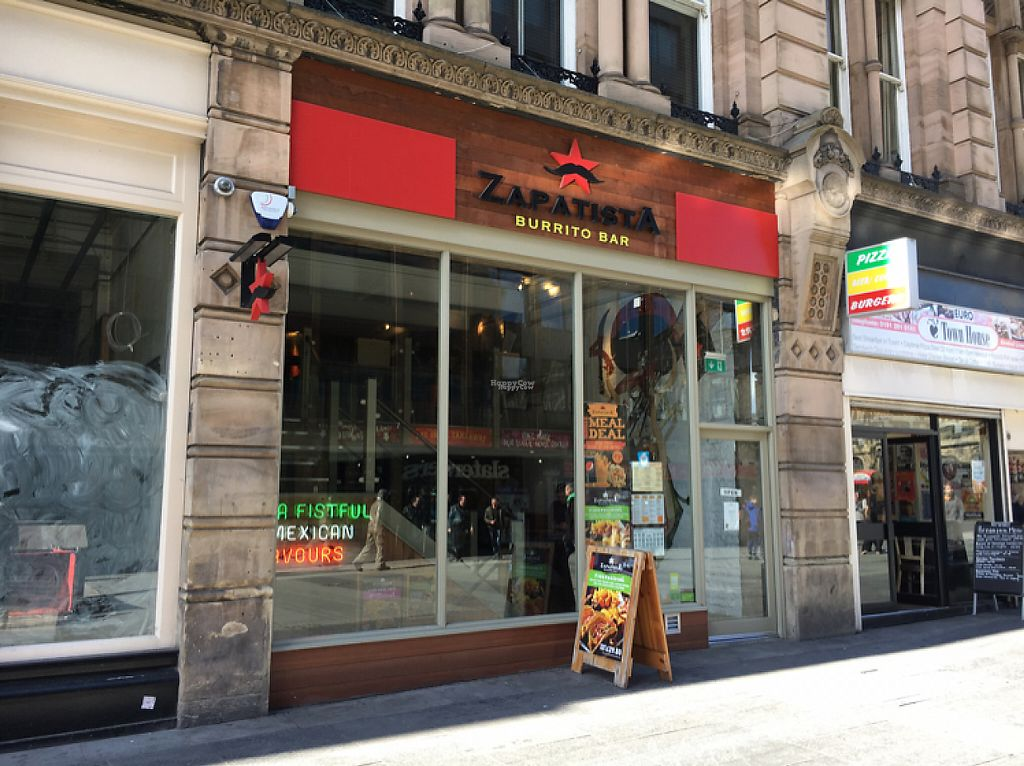 "Photo of Zapatista Burrito Bar - Grainger St  by <a href=""/members/profile/hack_man"">hack_man</a> <br/>outside  <br/> April 15, 2017  - <a href='/contact/abuse/image/89693/248359'>Report</a>"