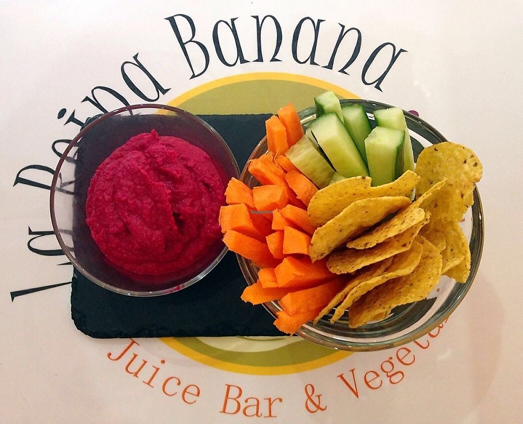 """Photo of La Reina Banana  by <a href=""""/members/profile/Ivanlopez"""">Ivanlopez</a> <br/>Beetroot hummus <br/> May 22, 2017  - <a href='/contact/abuse/image/89694/261233'>Report</a>"""