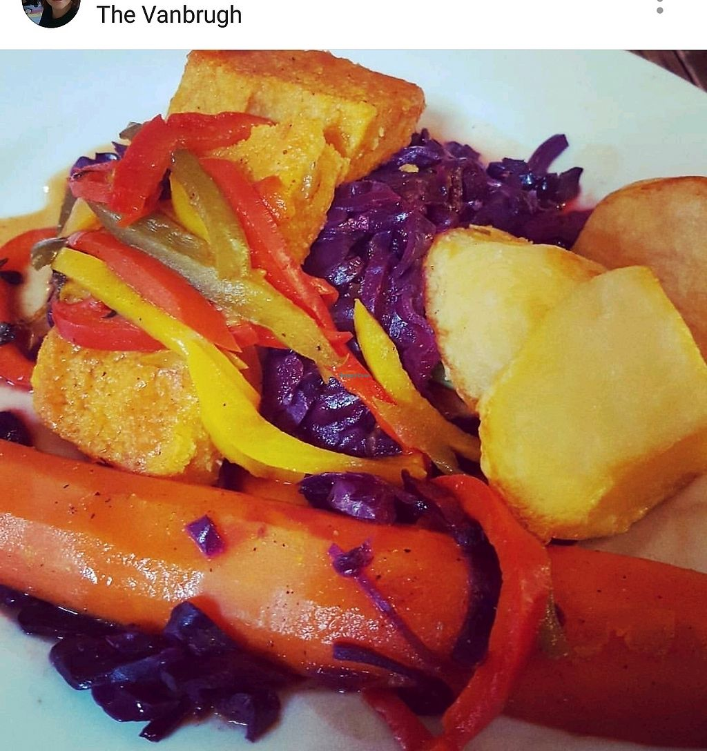 "Photo of The Vanbrugh  by <a href=""/members/profile/Vegfix"">Vegfix</a> <br/>Vegan Roast Dinner  <br/> September 13, 2017  - <a href='/contact/abuse/image/89717/303996'>Report</a>"