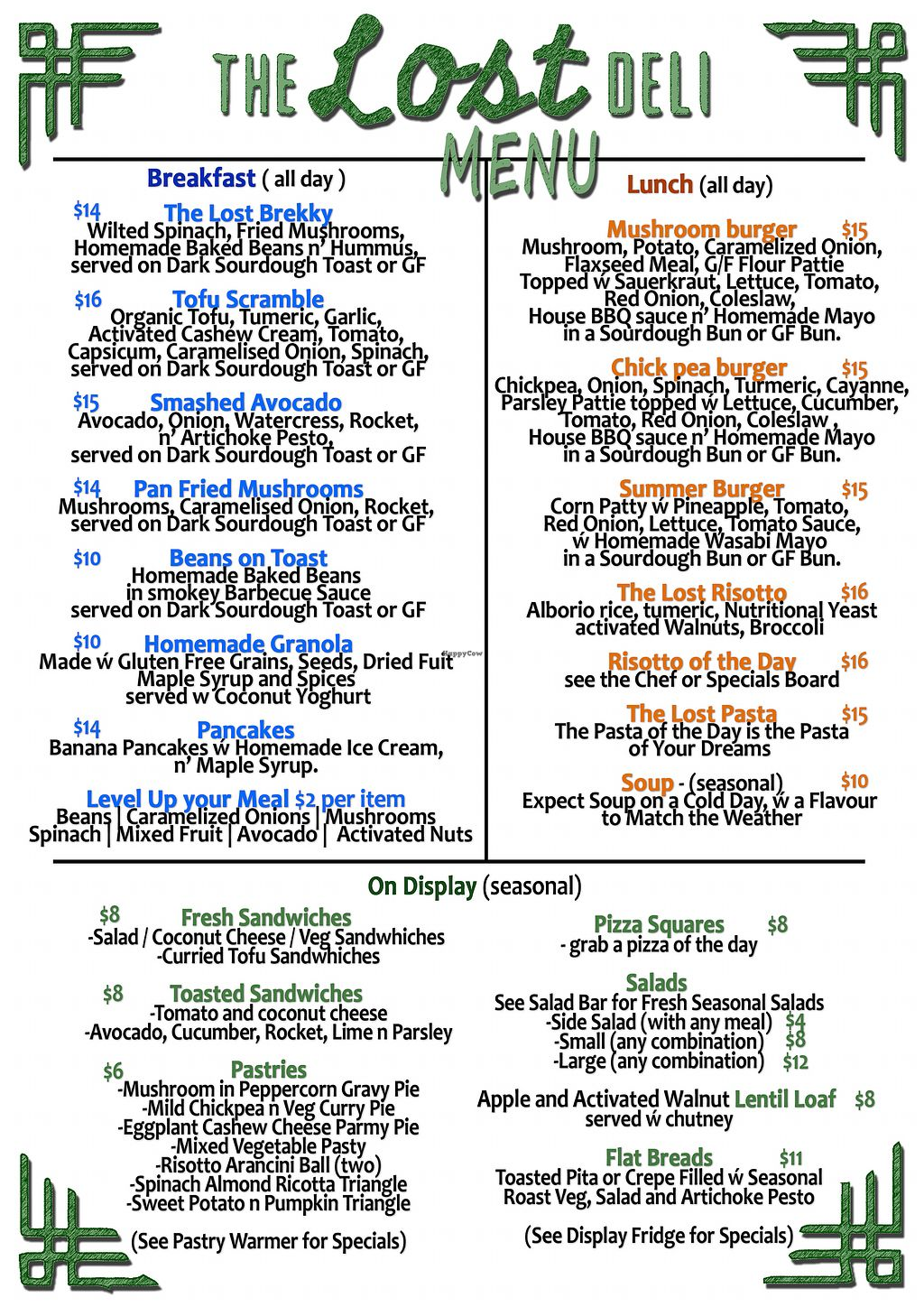 """Photo of The Lost Deli  by <a href=""""/members/profile/TheLostDeli"""">TheLostDeli</a> <br/>Food Menu <br/> March 3, 2018  - <a href='/contact/abuse/image/89723/366002'>Report</a>"""