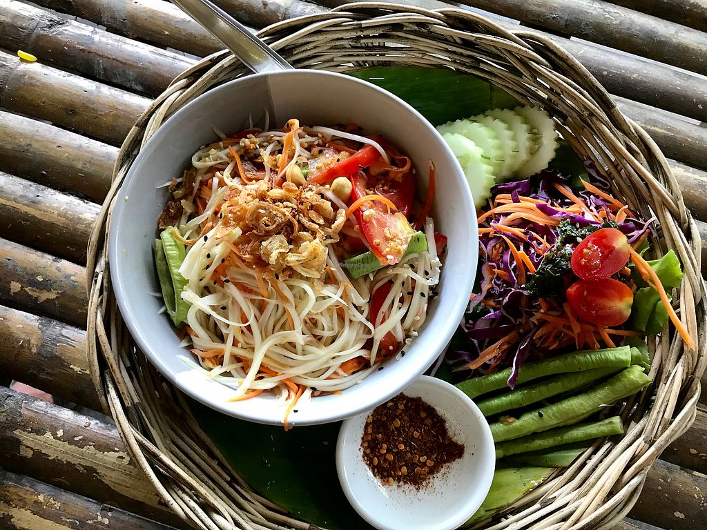 "Photo of Pure Vegan Heaven  by <a href=""/members/profile/AllieK."">AllieK.</a> <br/>Green papaya salad  <br/> March 20, 2018  - <a href='/contact/abuse/image/89736/373288'>Report</a>"