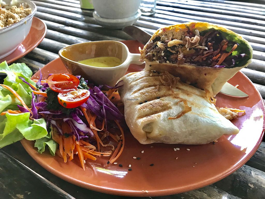 "Photo of Pure Vegan Heaven  by <a href=""/members/profile/AllieK."">AllieK.</a> <br/>Breakfast burrito  <br/> March 20, 2018  - <a href='/contact/abuse/image/89736/373289'>Report</a>"