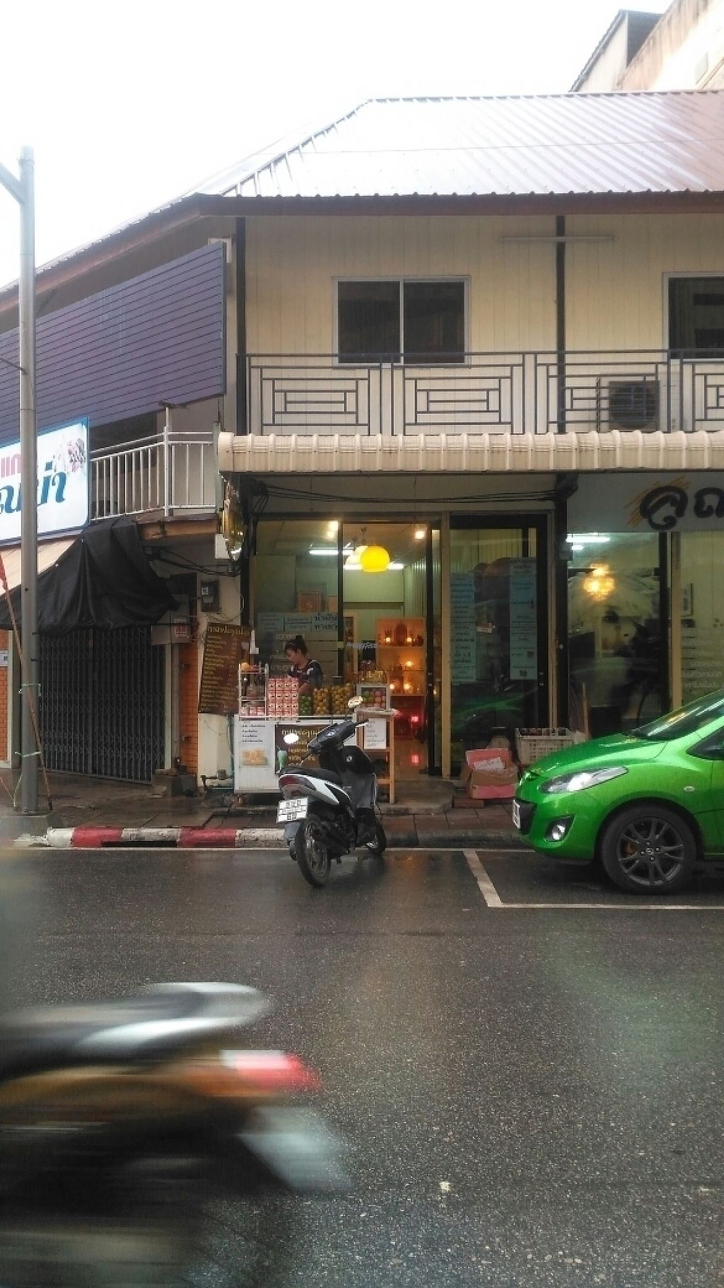 """Photo of Khun O - Organic Shop  by <a href=""""/members/profile/zibblezen"""">zibblezen</a> <br/>The shop front on Namuang Road <br/> April 4, 2017  - <a href='/contact/abuse/image/89749/244624'>Report</a>"""