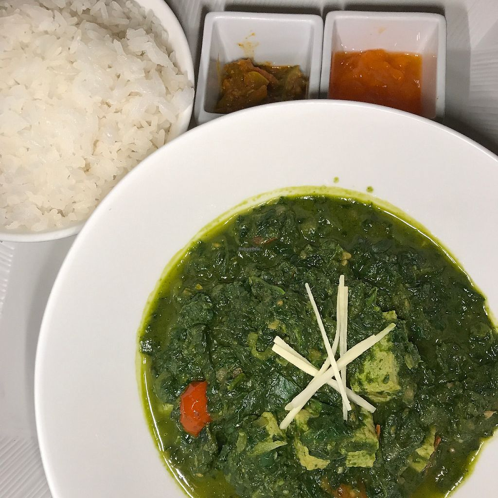 "Photo of Mandarin Oriental - MoZen Bistro  by <a href=""/members/profile/mep"">mep</a> <br/>Yummy spinach & tofu curry <br/> May 24, 2017  - <a href='/contact/abuse/image/89756/261835'>Report</a>"