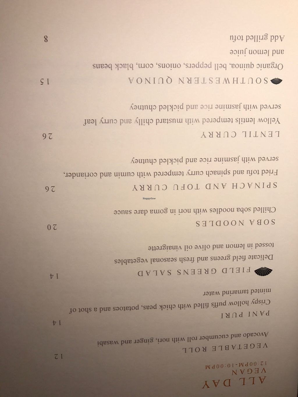 "Photo of Mandarin Oriental - MoZen Bistro  by <a href=""/members/profile/mep"">mep</a> <br/>One page of the separate allergen menu  (lists vegan options). A second page includes Dinner vegan options. (May 2017) <br/> May 24, 2017  - <a href='/contact/abuse/image/89756/261843'>Report</a>"