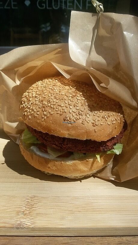 """Photo of Tel Aviv Urban Food  - Mokotow  by <a href=""""/members/profile/Micha%C5%82Altawil"""">MichałAltawil</a> <br/>Budda burger XL <br/> June 21, 2017  - <a href='/contact/abuse/image/89763/271774'>Report</a>"""
