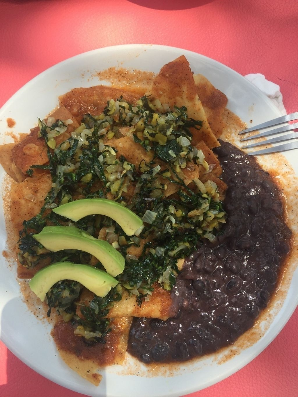 """Photo of El Manatí  by <a href=""""/members/profile/KarlaO"""">KarlaO</a> <br/>Vegan chilaquiles <br/> April 6, 2017  - <a href='/contact/abuse/image/89774/245231'>Report</a>"""