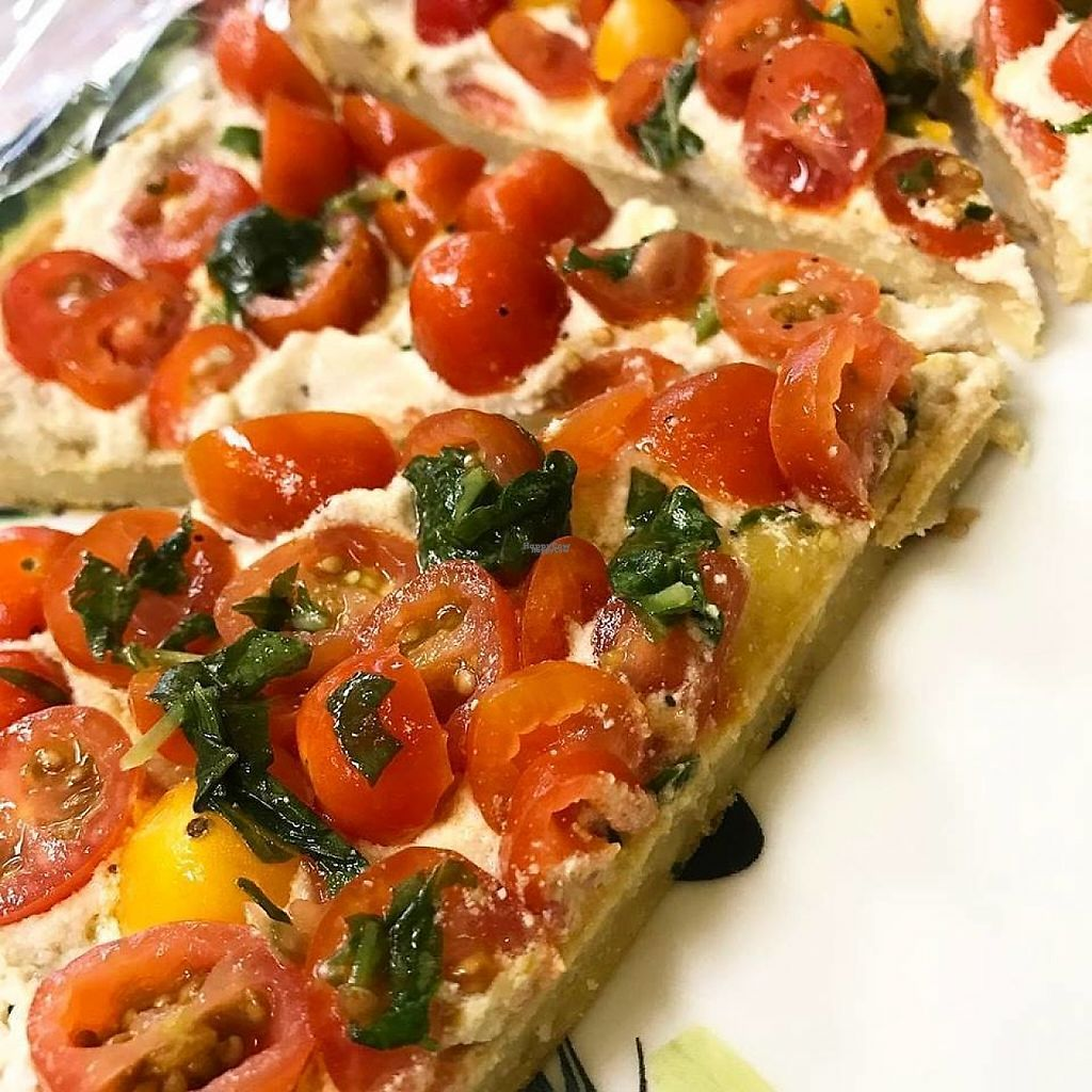 """Photo of zest  by <a href=""""/members/profile/community5"""">community5</a> <br/>Chickpea flatbread with housemade cashew """"cheese"""" <br/> April 5, 2017  - <a href='/contact/abuse/image/89805/244997'>Report</a>"""