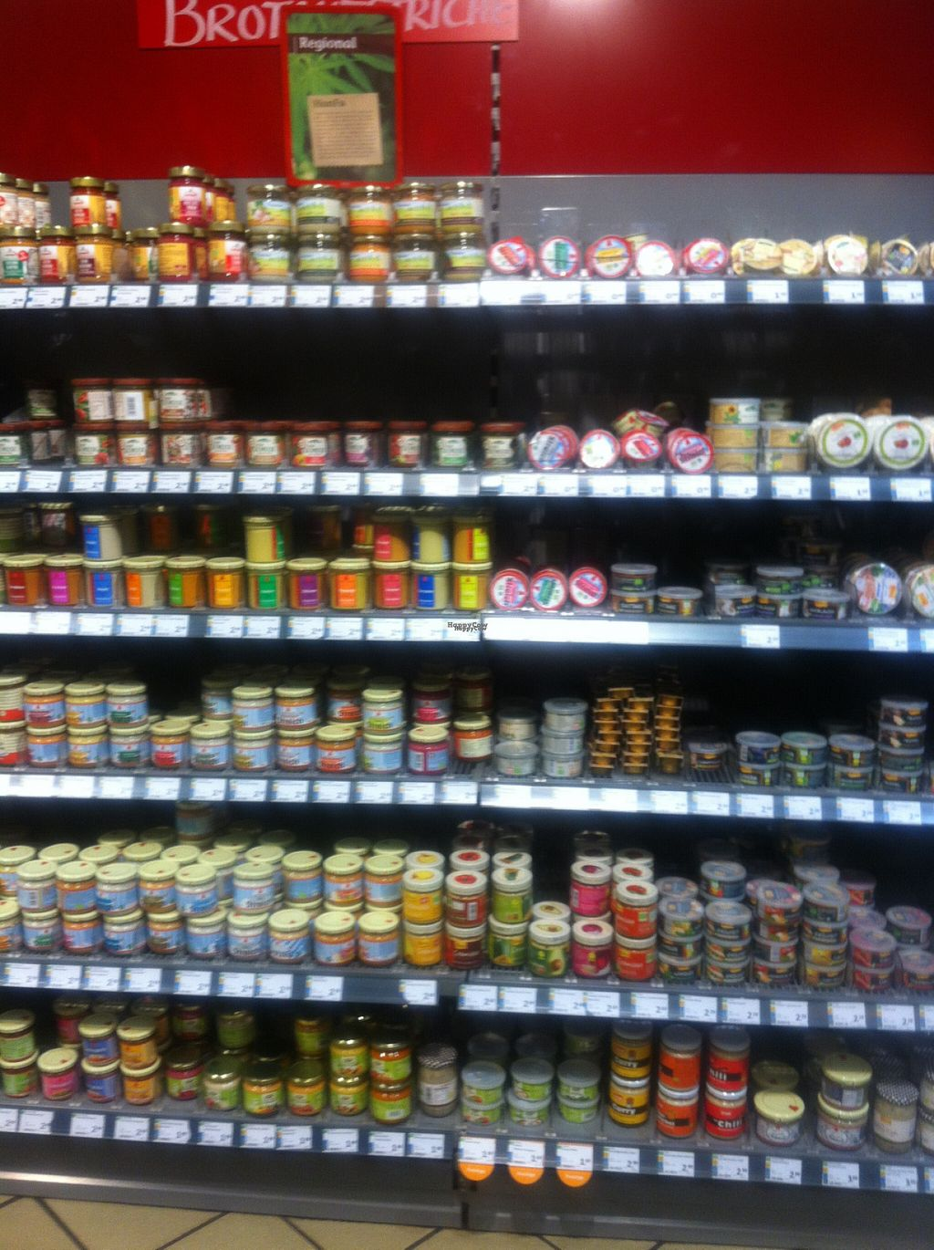 """Photo of denn's Biomarkt - Mitte  by <a href=""""/members/profile/piffelina"""">piffelina</a> <br/>Huge vegan selection <br/> August 2, 2016  - <a href='/contact/abuse/image/8980/164707'>Report</a>"""