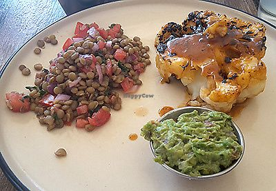 """Photo of Inspiracion 9  by <a href=""""/members/profile/Espinaca"""">Espinaca</a> <br/>Cauliflower steak in tamarind sauce with lentil salad <br/> December 10, 2017  - <a href='/contact/abuse/image/89812/334263'>Report</a>"""