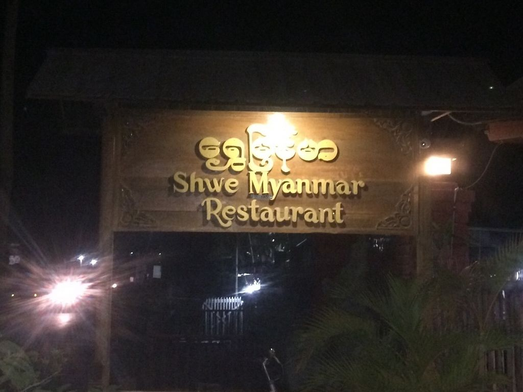 """Photo of Shwe Myanmar Restaurant  by <a href=""""/members/profile/Cyclinggal"""">Cyclinggal</a> <br/>Restaurant's front sign <br/> April 6, 2017  - <a href='/contact/abuse/image/89814/245134'>Report</a>"""