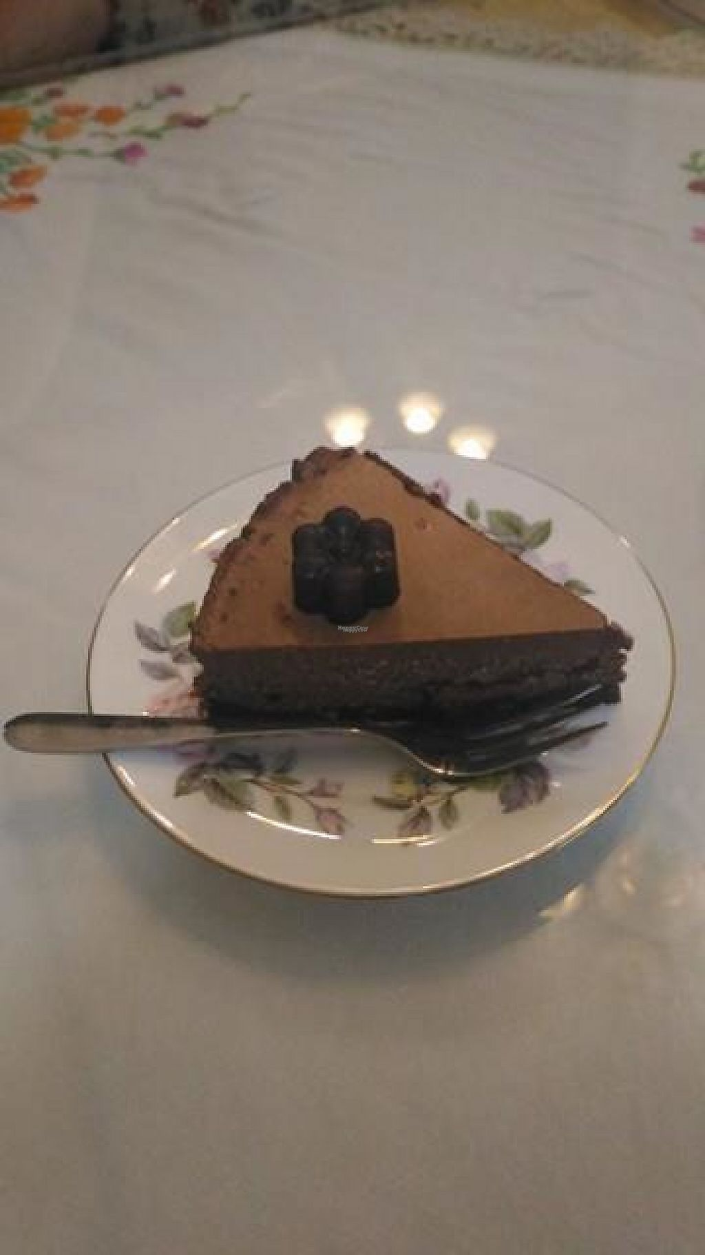 "Photo of The London Tearoom  by <a href=""/members/profile/LilacHippy"">LilacHippy</a> <br/>Raw Vegan Cheesecake <br/> April 21, 2017  - <a href='/contact/abuse/image/89816/250490'>Report</a>"