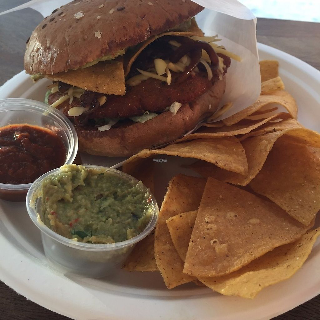 """Photo of Taco 2 Go  by <a href=""""/members/profile/Pons"""">Pons</a> <br/>Tasty vegan Tex-Mex Burger <br/> April 5, 2017  - <a href='/contact/abuse/image/89831/244818'>Report</a>"""