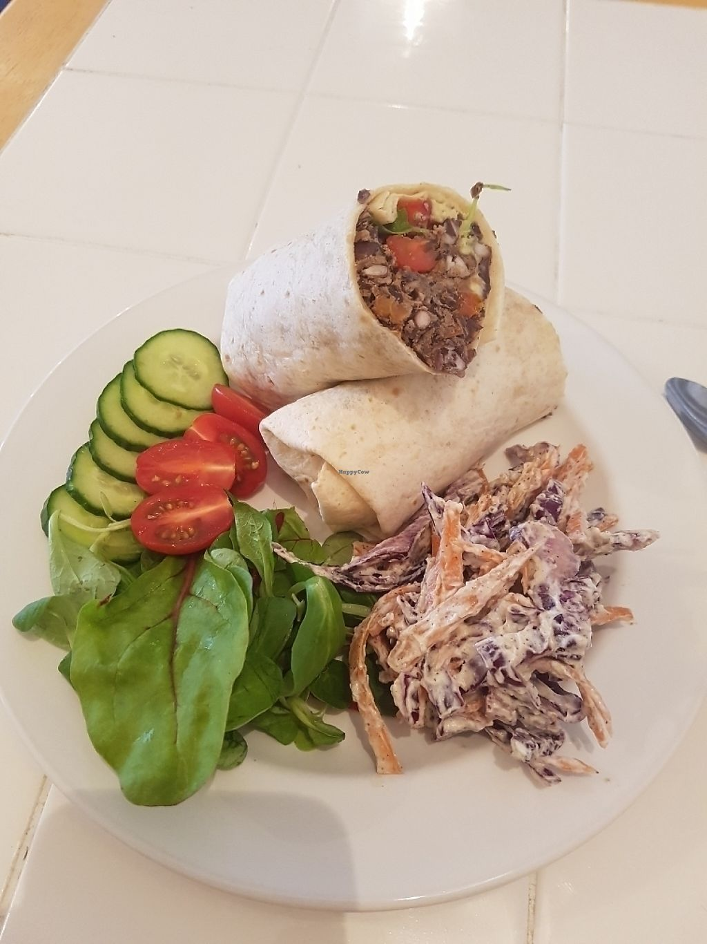 "Photo of CLOSED: Johnny V's  by <a href=""/members/profile/AdamThompson"">AdamThompson</a> <br/>Black bean and avacado wrap with side salad and slaw. Delicious! <br/> June 2, 2017  - <a href='/contact/abuse/image/89846/265062'>Report</a>"