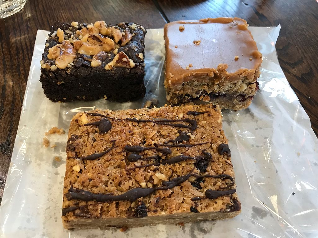 "Photo of Little Barista  by <a href=""/members/profile/VickiWanSlattery"">VickiWanSlattery</a> <br/>Brownie, blueberry caramel cake and flapjack  <br/> March 31, 2018  - <a href='/contact/abuse/image/89848/378796'>Report</a>"
