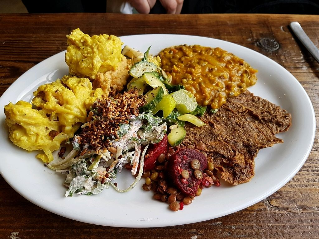 """Photo of Natural Healthy Foods Eatery  by <a href=""""/members/profile/Hoggy"""">Hoggy</a> <br/>Assorted dishes. (approx £9) <br/> January 12, 2018  - <a href='/contact/abuse/image/89849/345687'>Report</a>"""