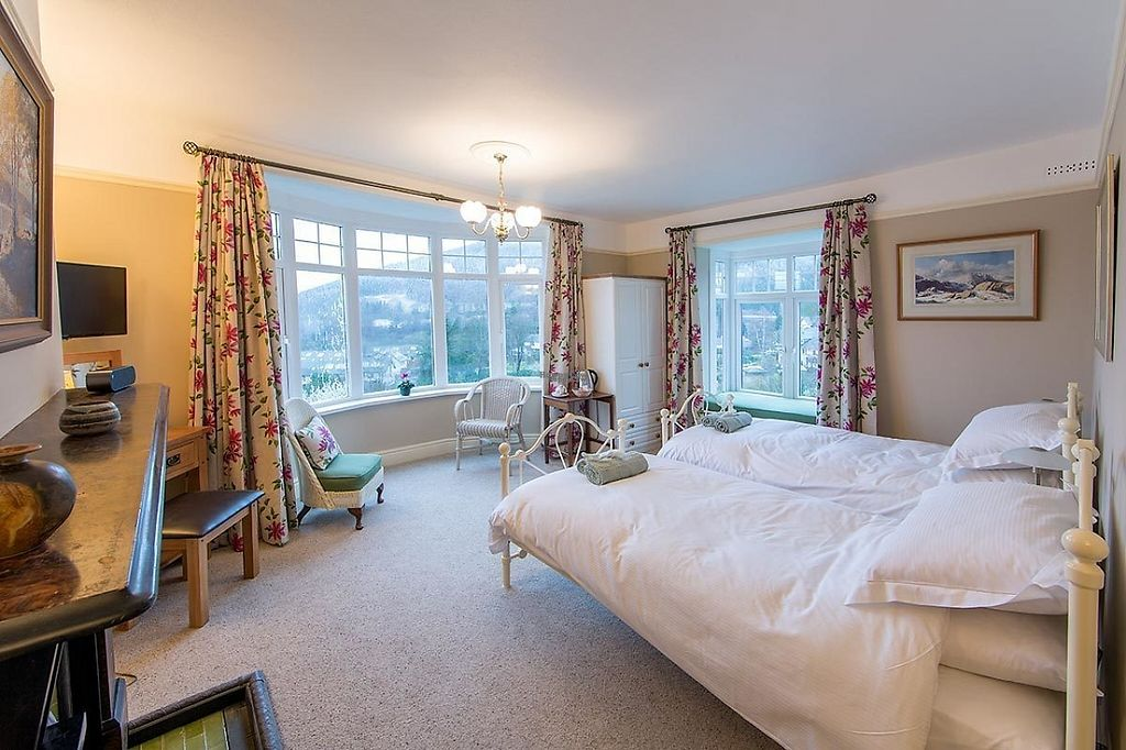 """Photo of Sandburne Vegetarian Guest House  by <a href=""""/members/profile/Sandburne"""">Sandburne</a> <br/>Revelin - one of the two spacious twin rooms - this one with dual aspect, bay window to the west and window seat to the north. Both rooms have luxury ensuite shower facilities <br/> April 8, 2017  - <a href='/contact/abuse/image/89875/245693'>Report</a>"""