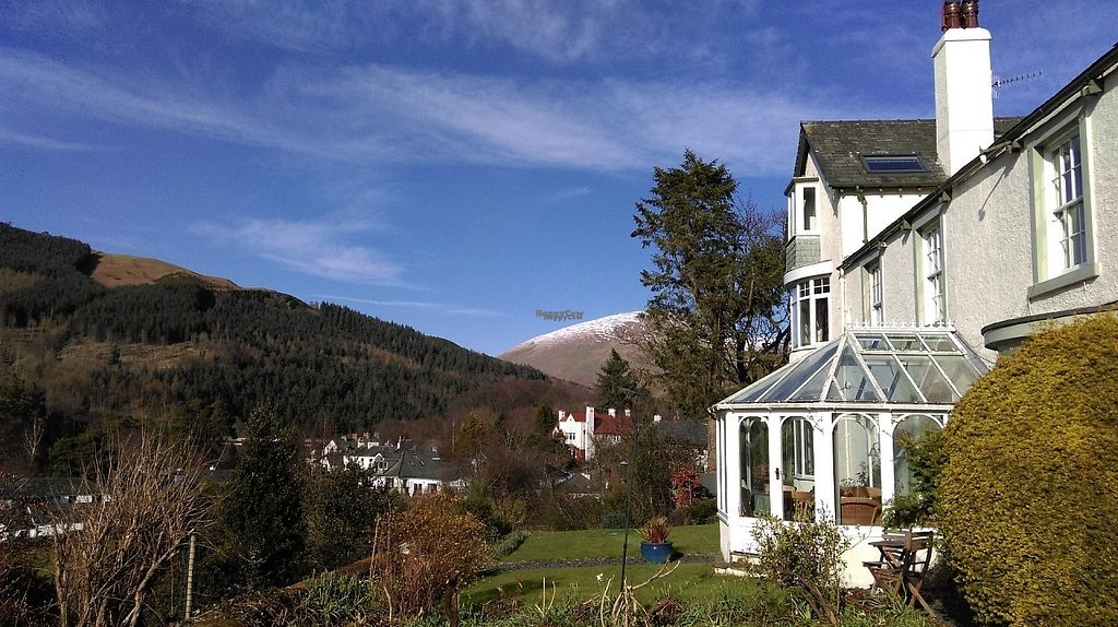 """Photo of Sandburne Vegetarian Guest House  by <a href=""""/members/profile/Sandburne"""">Sandburne</a> <br/>Sandburne looking north along the terrace towards the snow capped Blencathra <br/> April 8, 2017  - <a href='/contact/abuse/image/89875/245694'>Report</a>"""