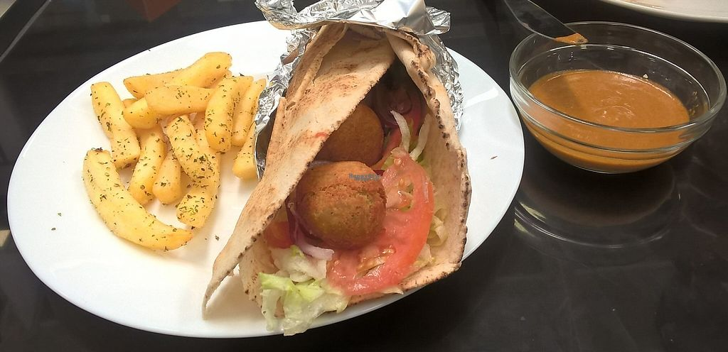 """Photo of Santo Gyro  by <a href=""""/members/profile/arya00"""">arya00</a> <br/>The falaffel wrap <br/> April 5, 2017  - <a href='/contact/abuse/image/89912/245065'>Report</a>"""