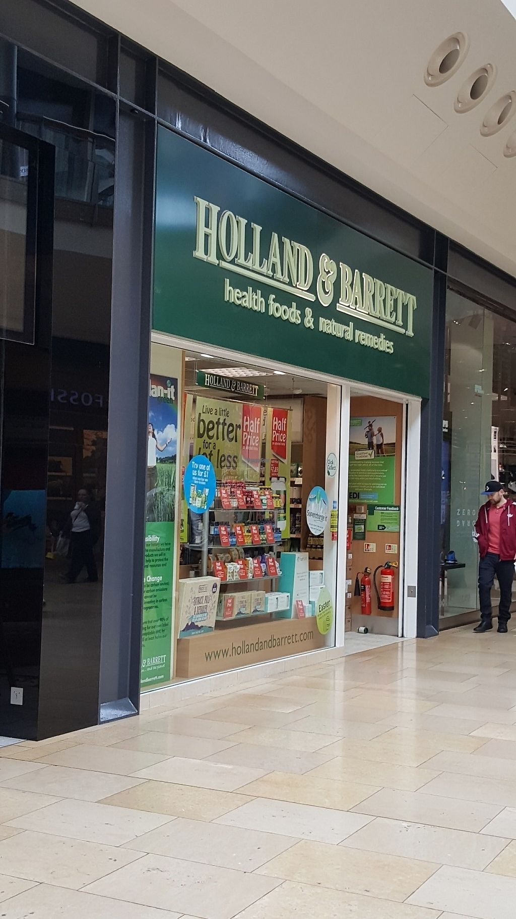 """Photo of Holland and Barrett  by <a href=""""/members/profile/Clare"""">Clare</a> <br/>Front <br/> April 6, 2017  - <a href='/contact/abuse/image/89919/245101'>Report</a>"""