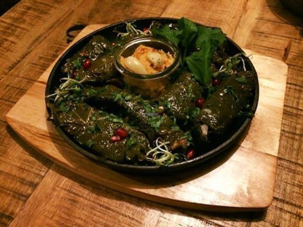"""Photo of Die Manufaktur  by <a href=""""/members/profile/community5"""">community5</a> <br/>Vegan stuffed vine leaves special <br/> April 5, 2017  - <a href='/contact/abuse/image/89920/245086'>Report</a>"""