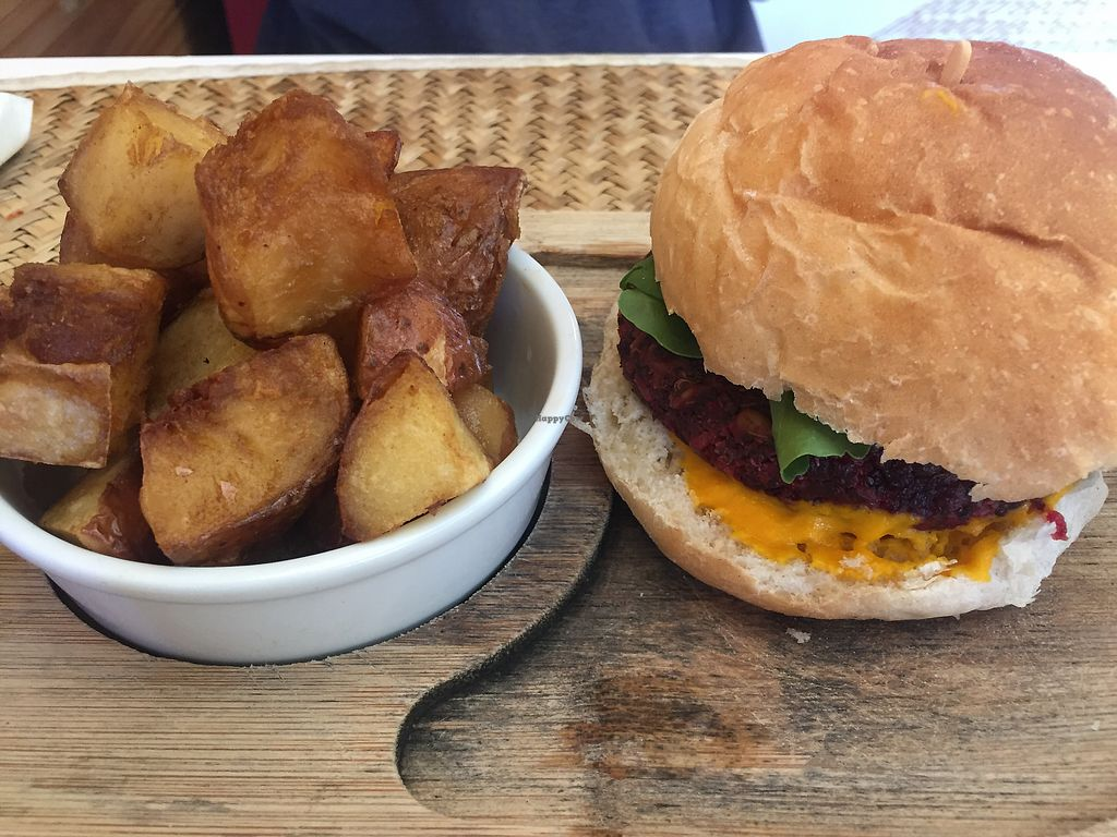 """Photo of Amorcito  by <a href=""""/members/profile/VegannGiuli"""">VegannGiuli</a> <br/>Burger de quinoa vegana <br/> January 6, 2018  - <a href='/contact/abuse/image/89924/343638'>Report</a>"""