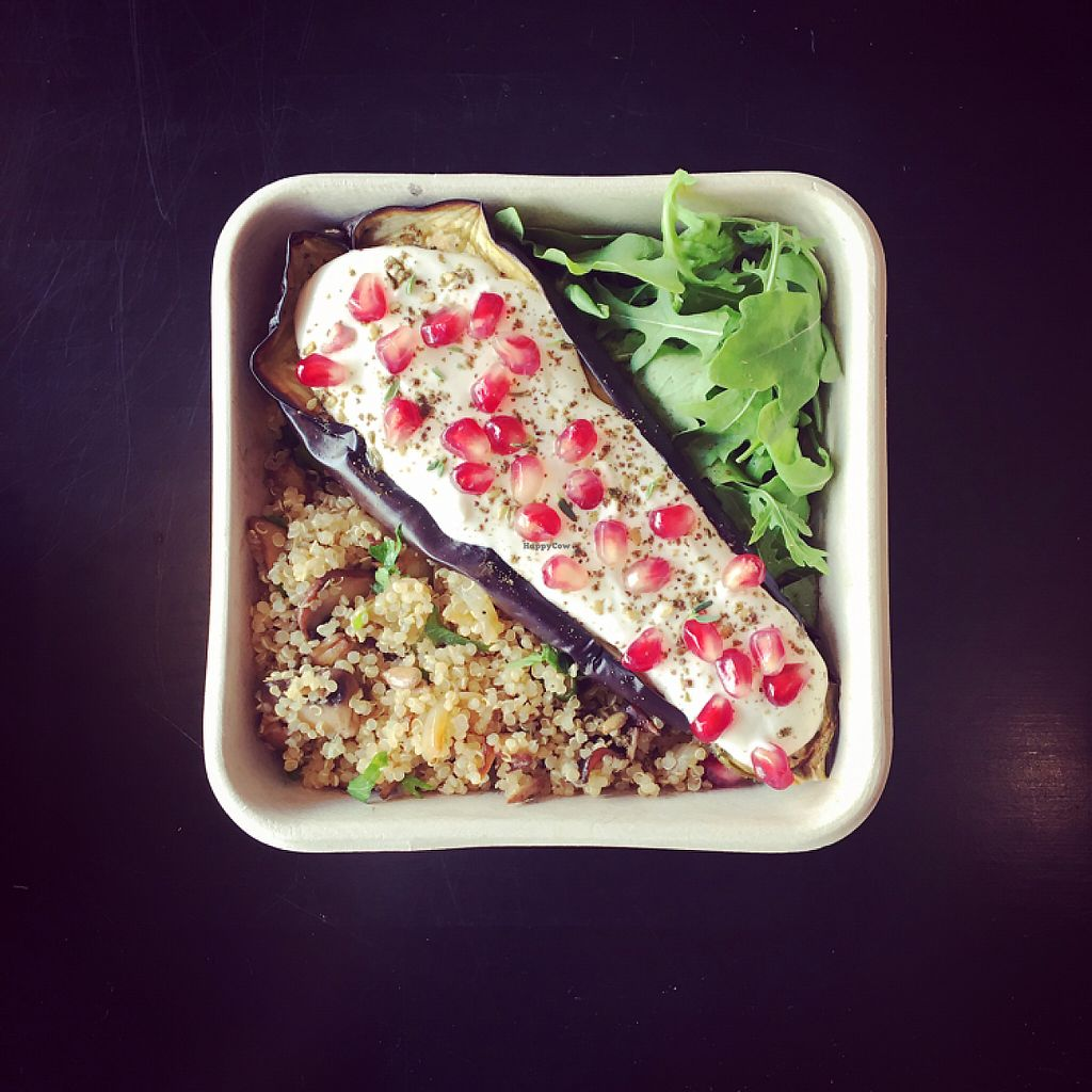 """Photo of Eatonomy  by <a href=""""/members/profile/BaPo"""">BaPo</a> <br/>Quinoa with mushrooms and roasted eggplant a la Ottolenghi style  <br/> June 2, 2017  - <a href='/contact/abuse/image/89945/265021'>Report</a>"""
