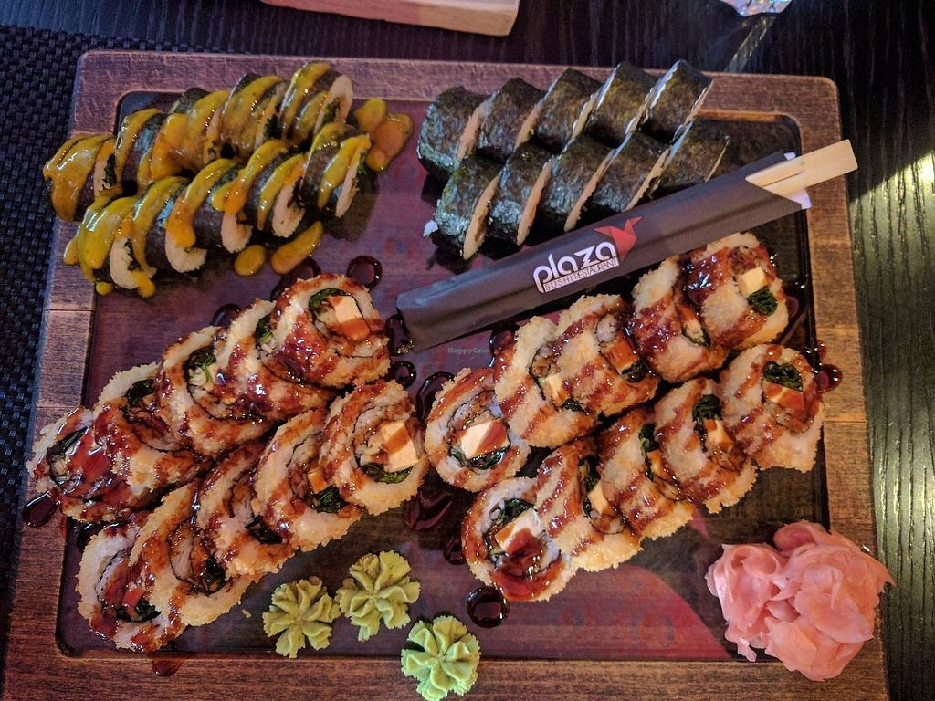 """Photo of Sushi Plaza  by <a href=""""/members/profile/Sevil%C5%A0ukjurova"""">SevilŠukjurova</a> <br/>woahh  best vegan sushi in town!! vegan tempura is the best!!  <br/> August 4, 2017  - <a href='/contact/abuse/image/89954/288576'>Report</a>"""