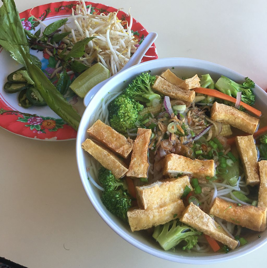 """Photo of Pho 7  by <a href=""""/members/profile/Cyandray"""">Cyandray</a> <br/>Vegan Vermicelli Soup <br/> April 6, 2017  - <a href='/contact/abuse/image/89967/245301'>Report</a>"""