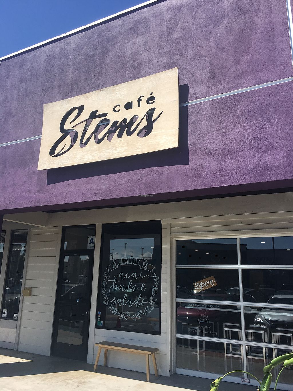 "Photo of Cafe Stems  by <a href=""/members/profile/Scottanderson"">Scottanderson</a> <br/>Store front <br/> September 18, 2017  - <a href='/contact/abuse/image/89998/305859'>Report</a>"