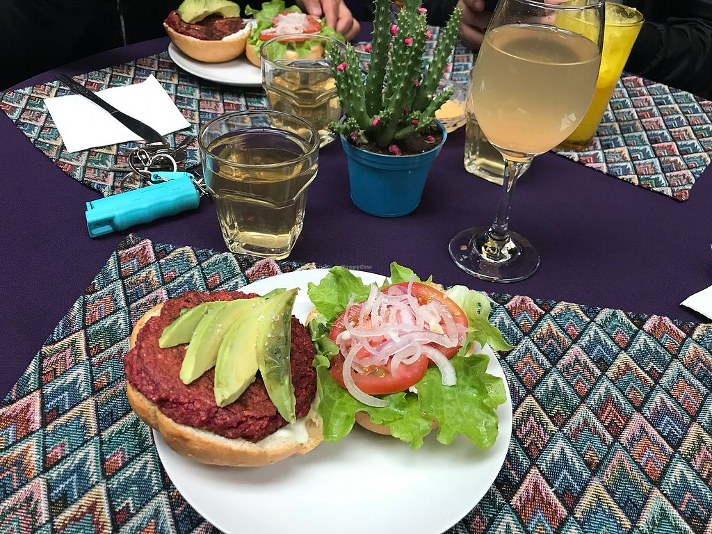 """Photo of Flora  by <a href=""""/members/profile/whatupleo"""">whatupleo</a> <br/>My burger with my tea and kumbucha <br/> February 6, 2018  - <a href='/contact/abuse/image/90014/355804'>Report</a>"""