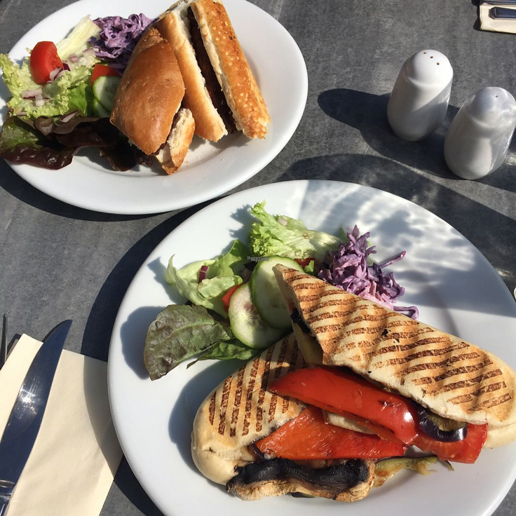 """Photo of The Allotment  by <a href=""""/members/profile/broganlane"""">broganlane</a> <br/>Mediterranean veg, vegan cheese panini. Vegan sausage and onion baguette.  <br/> April 7, 2017  - <a href='/contact/abuse/image/90017/245528'>Report</a>"""